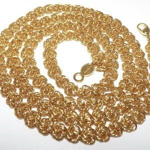 Napier Gold Plate Fancy Chain Rope Necklace 30""